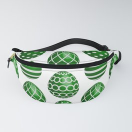Happy green Easter eggs Fanny Pack