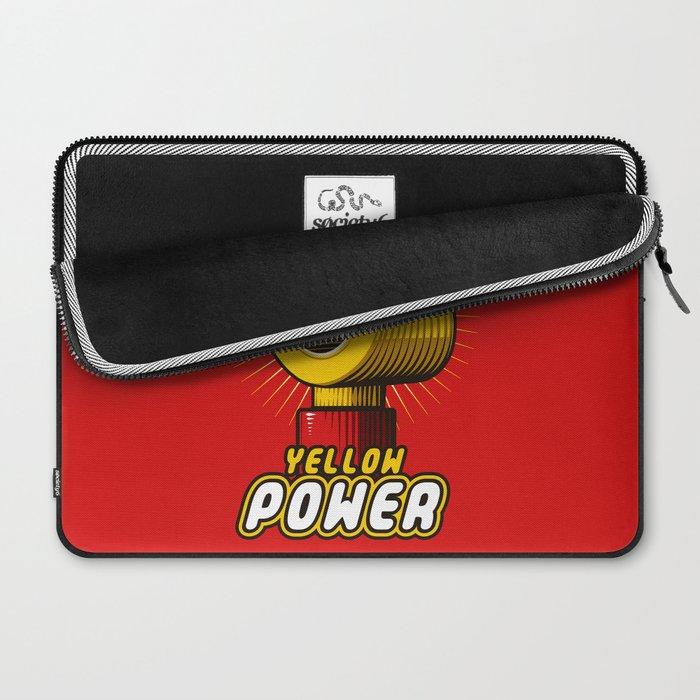 Yellow power Laptop Sleeve