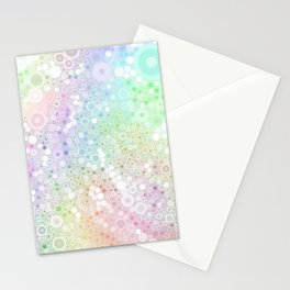 Colorful Circles Stationery Cards