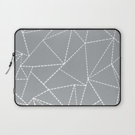 Abstract Dotted Lines Grey Laptop Sleeve