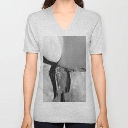 Black white abstract Unisex V-Neck