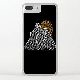 Mountain Sunrise Clear iPhone Case