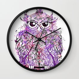 Owl Illustration Wall Clock