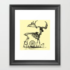 Gas Mask Deer Framed Art Print