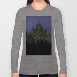 Sacre Coeur at night Long Sleeve T-shirt