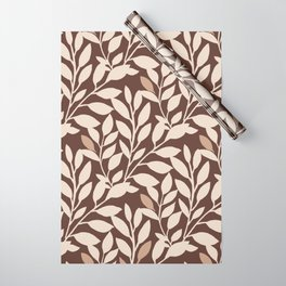 Leaves and Branches in Cream and Brown Wrapping Paper