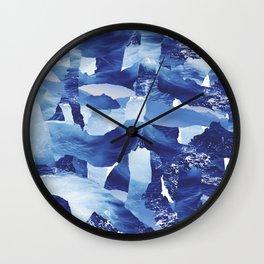 Nautical abstract pattern Wall Clock