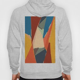 brown orange yellow and blue geometric graffiti painting abstract background Hoody