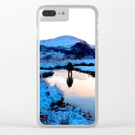 Snowy puddles Clear iPhone Case