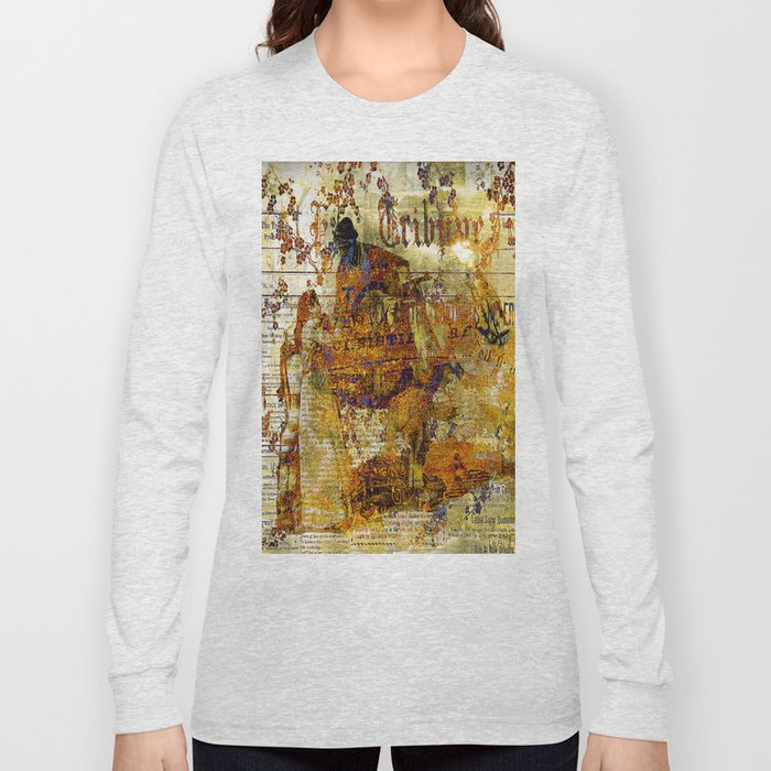 The departure of the Sicilian mailman Long Sleeve T-shirt