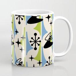 Mid Century Modern Cosmic Boomerang 726 Black Blue and Green Coffee Mug