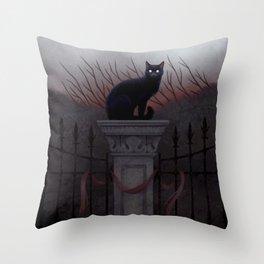 Silent Watcher Throw Pillow