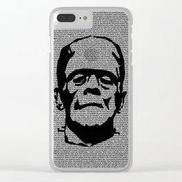 Words of Frankenstein Clear iPhone Case