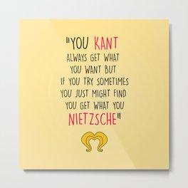 Hedwig, Kant & Nietzsche Metal Print