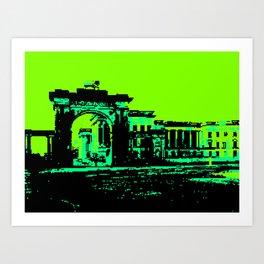 Calcutta, British administration building Art Print