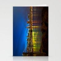 brooklyn bridge Stationery Cards featuring Brooklyn Bridge by Svetlana Sewell