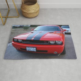 Torred Hemi Challenger RT color photograph / photography / poster Rug