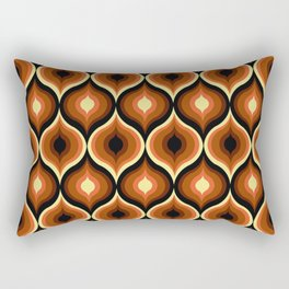 Brown Eye Abstract Pattern Rectangular Pillow