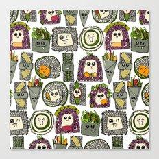 veggie sushi white Canvas Print