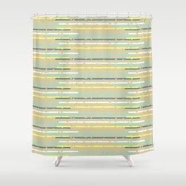 Multicolor uneven stripes Shower Curtain