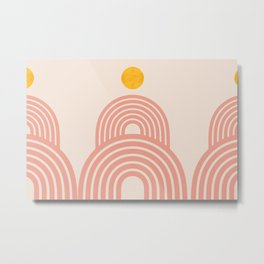 Abstraction_SUN_LINE_VISUAL_ART_Minimalism_002B Metal Print
