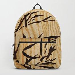 Japanese bamboo buddha wood art Backpack