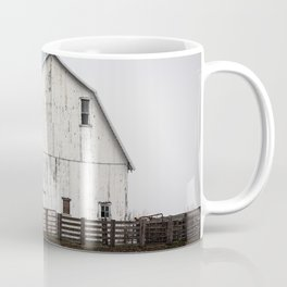 White Barn - Large Weathered Barn in Illinois Coffee Mug