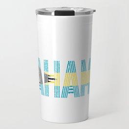 Bahamian National Flag Vintage Bahama Distressed Gift Travel Mug