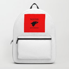 winter cool saying t.v quote and banner Backpack