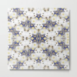 Abstract lap 625 - White and Gold Metal Print