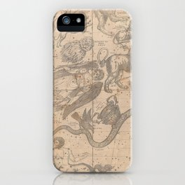 Burritt - Huntington Map of the Constellations or Stars in April, May and June (1856) iPhone Case