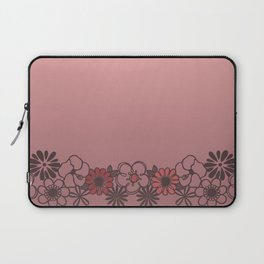Kitschy Flower Medley Pink Laptop Sleeve