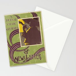 sf newsletter   a journal for the cultured. 1900  oude poster Stationery Cards
