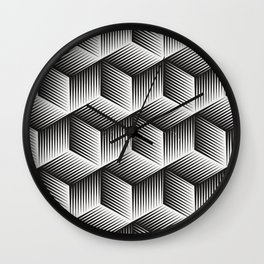 Black And White cuber Wall Clock