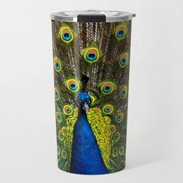 Colorful peacock Travel Mug