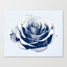 HALFTONE ROSE Canvas Print