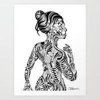 maori Art Prints featuring Maori Style by SarinneG
