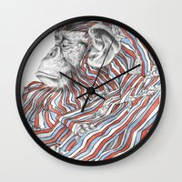 ape Wall Clocks featuring Ape by Guillem Bosch