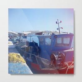 Fishing boats - Zakynthos, Greece Metal Print