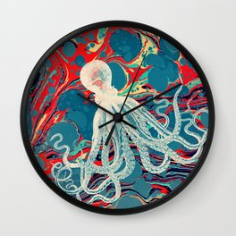 Vintage Octopus Wall Clock