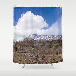 Sicilian Volcano ETNA Shower Curtain