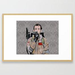 Bill Murray in Ghostbusters Framed Art Print
