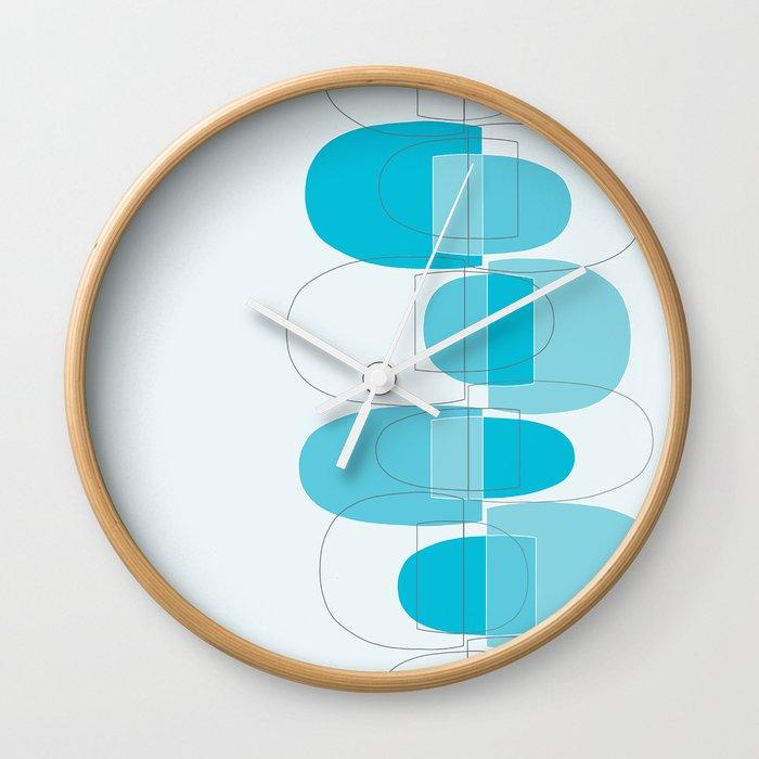 Mod Pods Blue Wall Clock