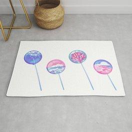 Ocean Blue Lollipop Rug