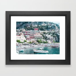 In Positano Framed Art Print