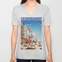 Brighton Travel Poster Unisex V-Neck