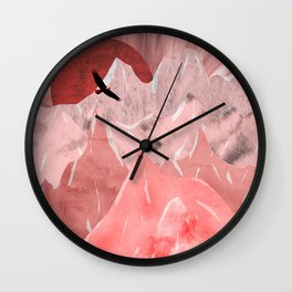 The red mountains Wall Clock