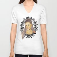 ariana grande V-neck T-shirts featuring Ariana II by Share_Shop