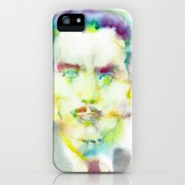 MARSHALL MCLUHAN - watercolor portrait iPhone Case