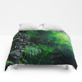 Rocks and Ferns Comforters